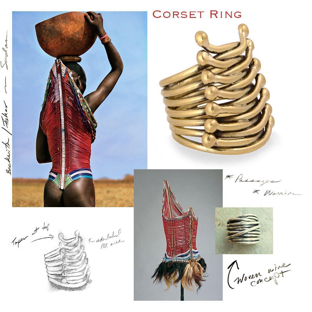 Shompole Collection Corset Ring