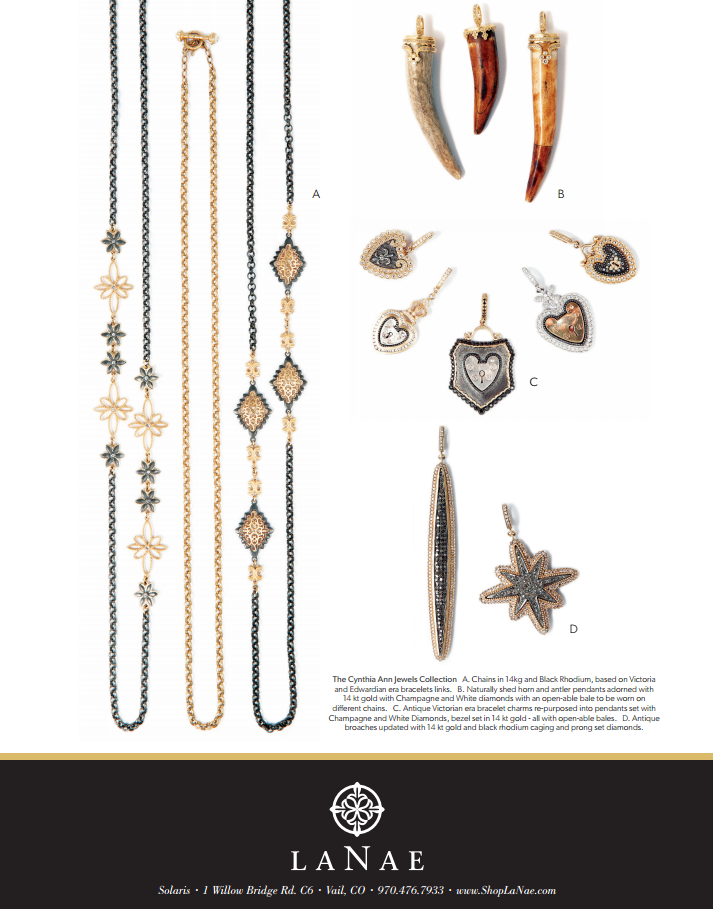Vail daily's magazine for new Cynthia Ann Jewels this spring