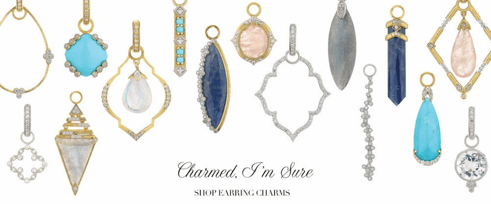 earring charms, earring frames, jude frances earring charms, ways to wear, 4 different ways to wear earring charms. Spotlight on:  Ways to wear Jude Frances Earring Charms