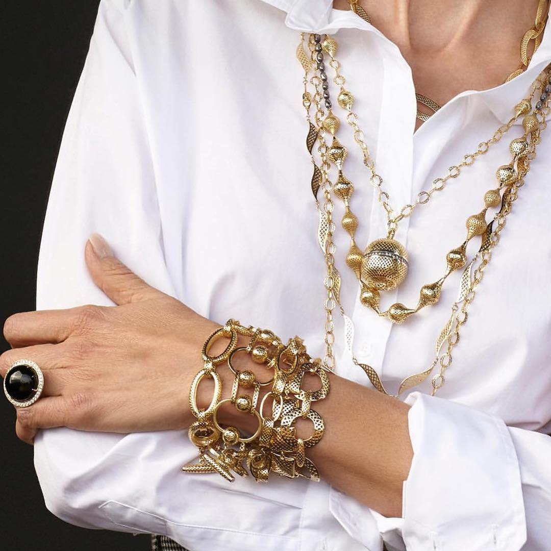 Classic gold collection by Ray Griffiths, bracelets, chains and ring. Spotlight on Gold Jewelry Classics By Ray Griffiths