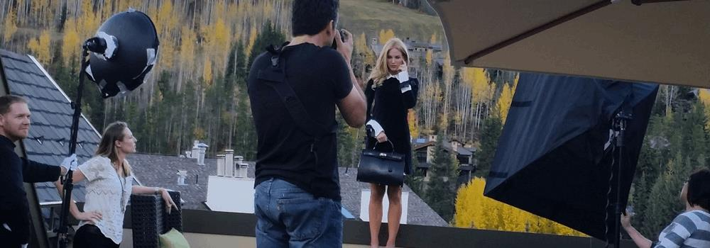 LaNae Jewelry behind the scene shoot on top of the Four Seasons Vail, CO. . Video of LaNae photo shoot in Vail!